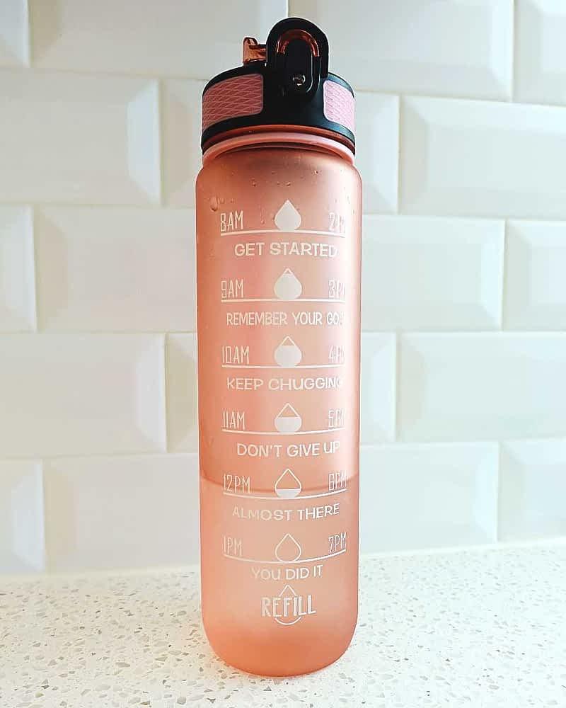 water bottle time marker