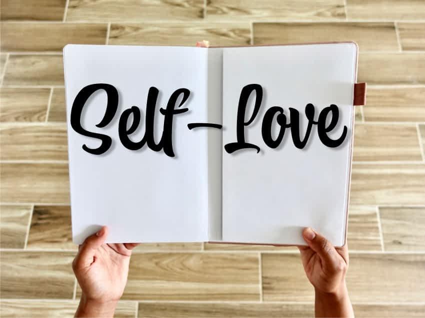 self love written in a book